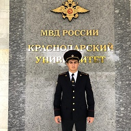 Курсант Краснодарского  университета  МВД  РФ Махов Алан Асланович